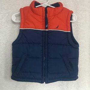 ⛵️🌊Nautica Orange and Blue Vest Size 6-12M